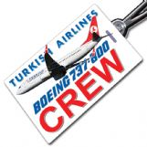 THY Turkish 737-800 Tag